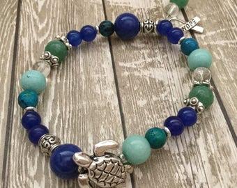 Turtle totem Long life Thyroid bracelets Healing bracelets Prosperity Wealth Success Zen Beaded bracelets Jewelry Bracelets Turtle Totem