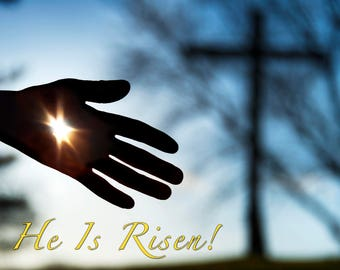 He is Risen! - 11x14 Gallery canvas wrap