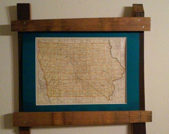 Wine Barrel Stave Picture Frame