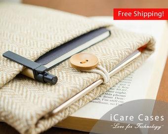 """iPad Pro 9.7 Sleeve Best iPad Pro 9.7"""" Case Apple iPad Pro Case 9.7 iPad Pro 9.7 Cover Case iPad Pro 10 Cozy Brown Herringbone Wool Case"""