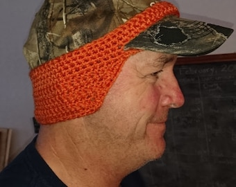 Crocheted Ball Cap Ear Warmer