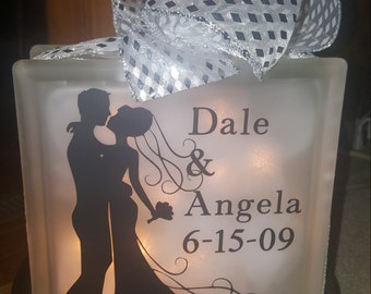 Wedding glass block