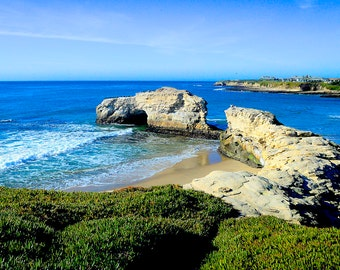 Natural Bridge State Beach, Santa Cruz, California USA, Pacific Ocean, Monterey Bay,  - Canvas Gallery Wrap