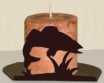 Silhouette Candle Holder - Walleye Design