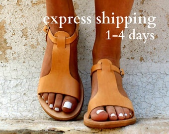 CASSANDRA sandals/ women Greek leather sandals/ roman sandals/ ancient grecian sandal/ womens leather sandals/ natural color leather sandals