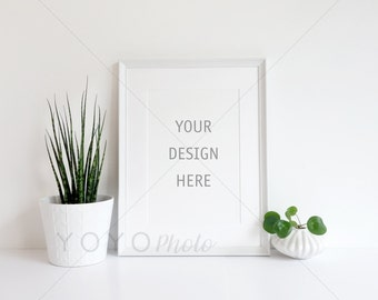 Styled Stock Photography, White Frame Mockup, Styled Frame Mockup, High Res Psd with Smart Object, A4 Frame Portrait, Digital Frame