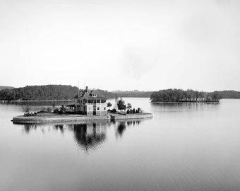 "1906 Island House, Lake Quinsigamond, Worcester, MA Vintage Photograph 13"" x 19"""