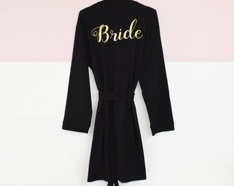 Bridal Party Personalised Wedding Dressing Gown Robe