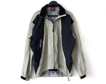 Vintage Helly Hansen Jacket 90s Helly-Tech Sailing Jacket Large Size Tan Black Ski Helly Hansen Windbreaker Rare Helly Hansen Yacht Jacket