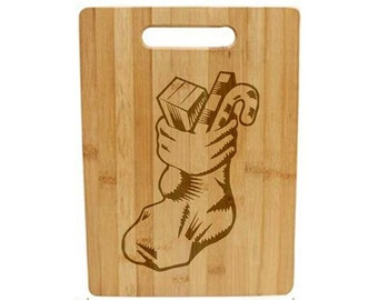 Laser Engraved Cutting Board - 041 - Stocking