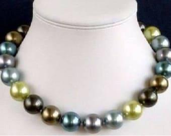 Multicolour South Sea Shell Pearl Necklace