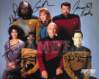 Star Trek signed Cast 8x10 Autograph RP - Great Gift Idea - Ready to Frame photo picture!