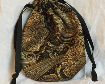 Gold and Black Reticule