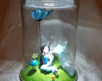 Blue Tooth Fairy Jar