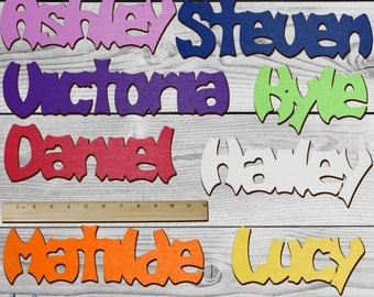 BATMAN Personalized Wooden Name Sign Custom Plaque Words / Letters Wall Decor / Door / Laser Cut Wood Letters / Font
