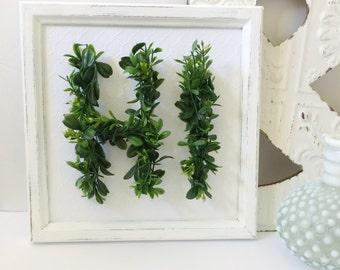 Recycled Frame Leafy HI Sign