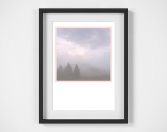 Forest Print, Printable Art, Digital Print, Nursery Decor, Pink Poster, Colour Photography  Forest Photography, Poster, Print, Nursery Art