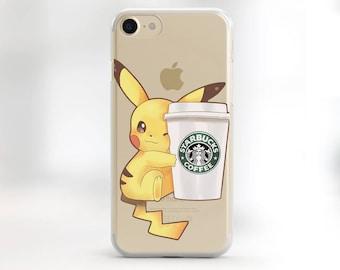iPhone 6S Plus Case pikachu iPhone 6S Plus clear iPhone SE clear case, iPhone 5S clear case pokemon iPhone 6 case clear iPhone case TPU case
