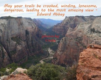 Inspirational Photo winding trail