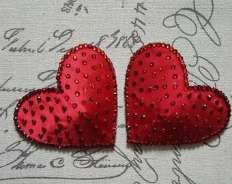 Red heart nipple pasties