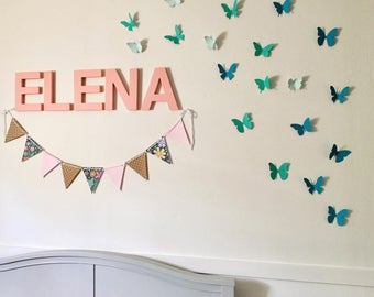 Butterfly Wall Clings - Nursery Wall Decor - Butterfly Wall Decor  - Colorful Butterfly Clings