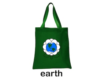 earth flower tote