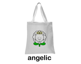 angelic flower tote