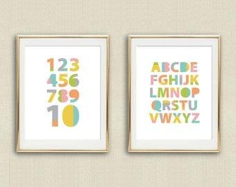 ABC Kids Art Print,Alphabet Poster,Nursery Print,Playroom Wall Art,Kids Wall Art,Kids Alphabet,Nursery Alphabet Art,Nursery,Playroom Decor