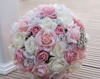 Brides Pink Rose Bouquet
