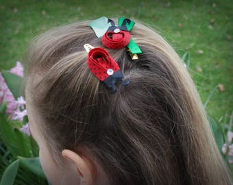 Ladybugs  Clip for Royal Girl , Royal Girls Hair Accessories,Royal Baby Girl Photo,Party