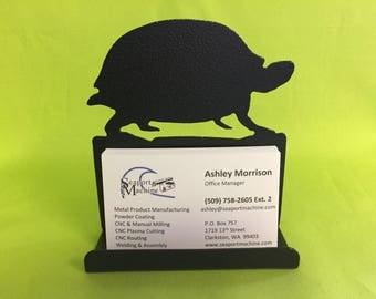 Turtle Desktop Business Card Holder