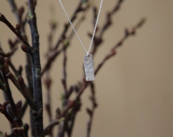 Hand-Made Sterling Silver Necklace, Hammered