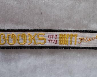 Books Are My Happy Place Cross-stitch Bookmark