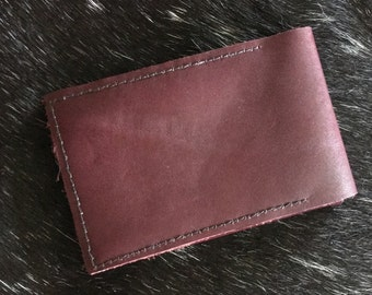 Slim Line Burgundy Tri-Fold Wallet