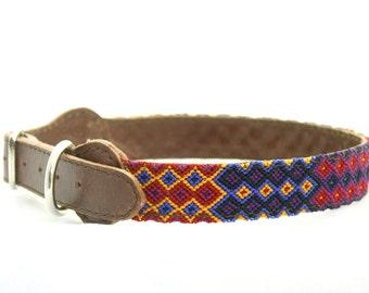 Handmade Pet Collar - Medium Size - 1 inch wide