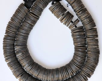 Large Size African Palm Nut Disc Beads - 20mm - Vintage African Trade Beads - PN8