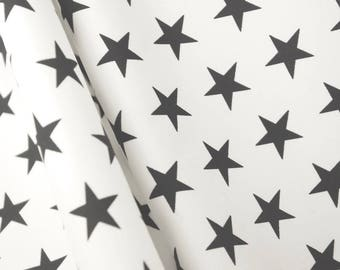 White And Black Stars Showerproof Fabric