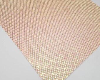 Glitter fabric,BLUSH PINK glitter fabric,glitter canvas,pink iridescent glitter fabric,glitter fabric,chunky glitter fabric,mermaid fabric