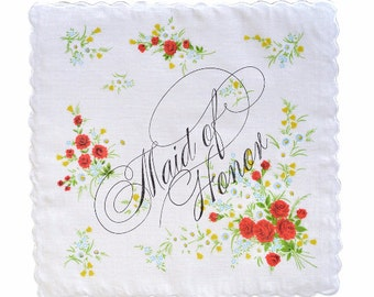 Maid/Matron of Honor Handkerchief