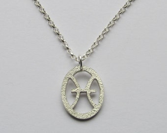 Astrology necklace, astrology jewelry, aquarius necklace, aquarius jewelry, aquarius pendant, pisces necklace, star sign jewellery