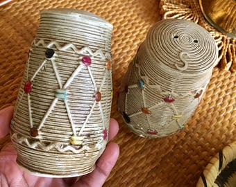 Boho Salt and Pepper shakers