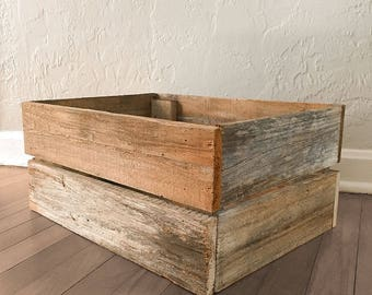 Reclaimed Wood Crate - Reclaimed Florida Cypress