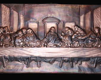 The last supper of Leonardo da Vinci
