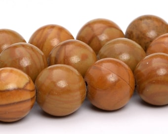"8MM Brown Picture Jasper Natural Gemstone Full Strand Round Loose Beads 15"" (101154-326)"