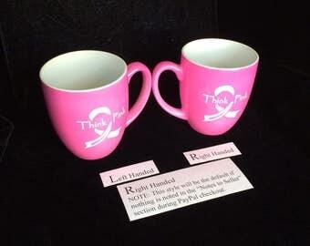 Pink Bistro Ceramic Mug 16