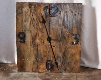 Artisan Bespoke Reclaimed Wood Clock - Industrial