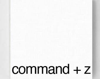 Command + Z