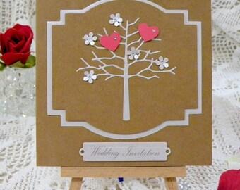 Wedding Invitation Heart Blossom Tree