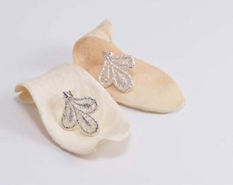 """Lis"" Silver earrings. Organic earrings in silver. Earrings flowers Lis. Elegant earrings"