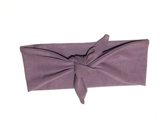 Purple/peach baby hair strap with button baby hair bow
